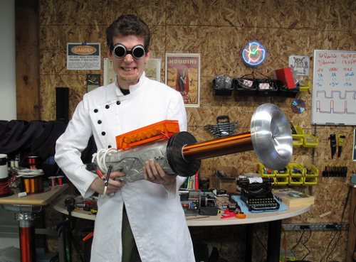 Rob Flickenger and his Tesla Gun